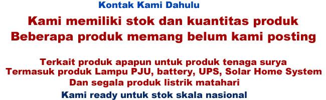 Toko Distributor Penjualan Lampu Tenaga Surya Lampu Pju